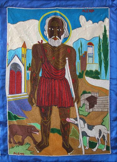 Papa Legba  by Alcide, one of the most well known Vodou flag