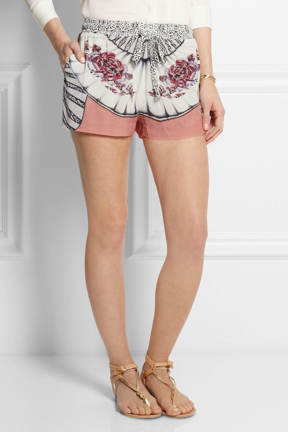 Paul & Joe|Portika printed crepe shorts|NET-A-PORTER.COM