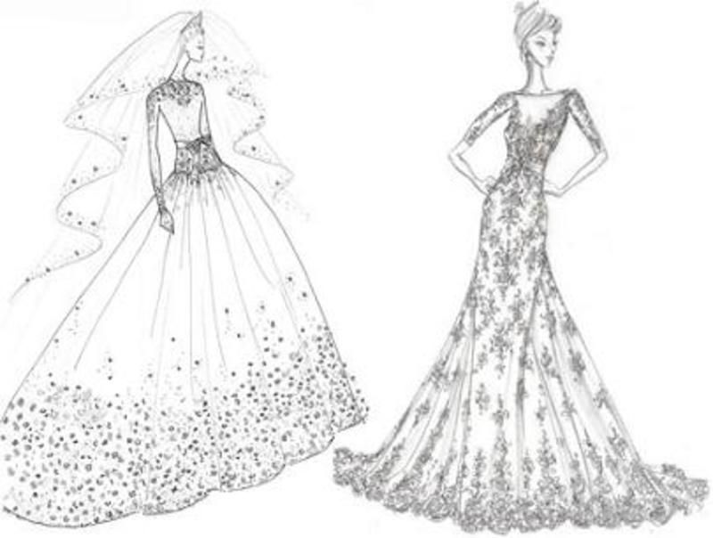 7 #Designer Bridal Gown Sketches for Kate Middleton... | dresses ...