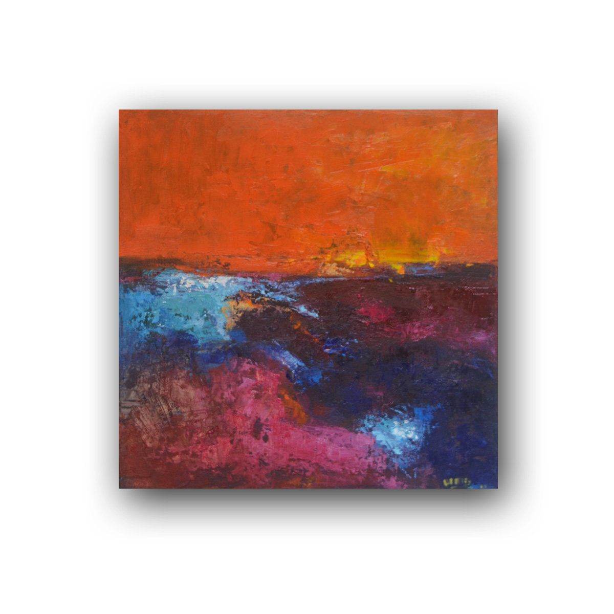 Blue Orange Yellow Green Abstract Abstract Painting Wall Etsy In 2020 Painting Abstract Painting Orange Painting