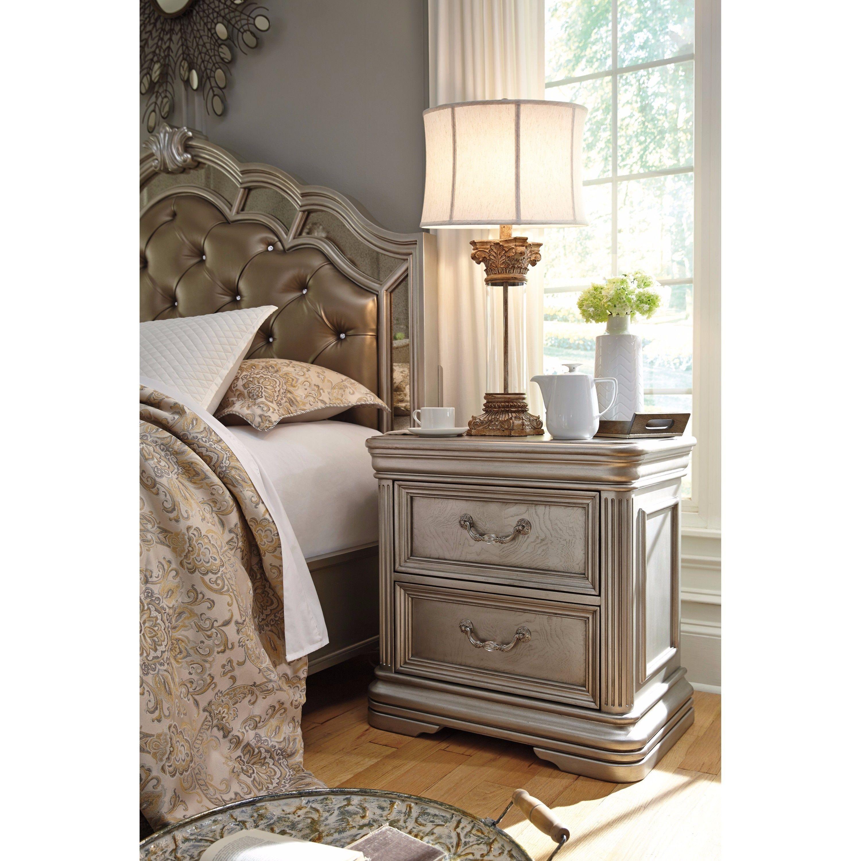 Birlanny Panel Bedroom Set Signature Design 3 Reviews: Signature Design By Ashley Birlanny Silver Two Drawer