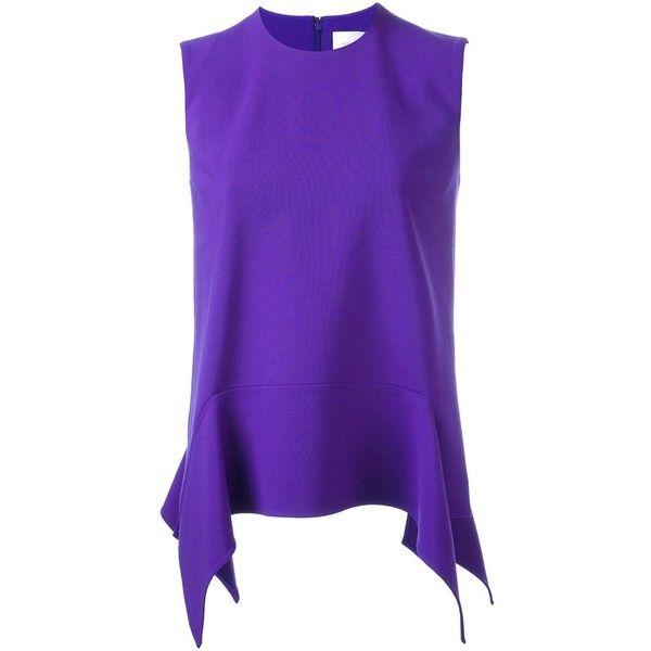 Victoria Victoria Beckham peplum top (€235) ❤ liked on Polyvore featuring tops, purple, purple peplum top, peplum tops and purple top