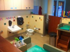 Daycare Bathroom Design Shared Toddler Bathroom Diapering Space