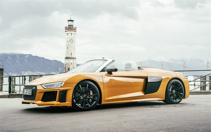 Download Wallpapers Abt Tuning 4k Audi R8 Spyder 2017 Cars