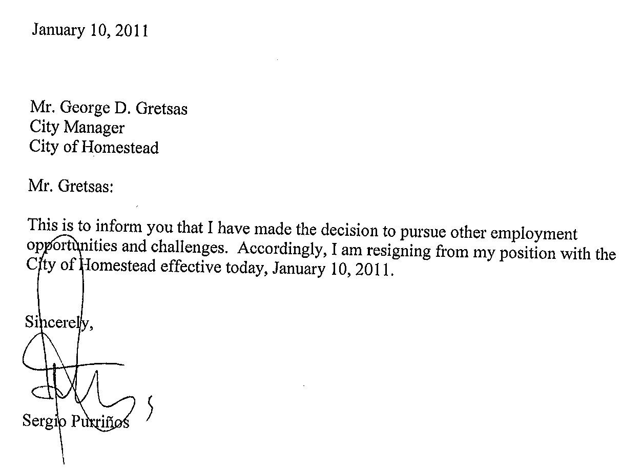 resignation letter - Examples Of Resignations Letters
