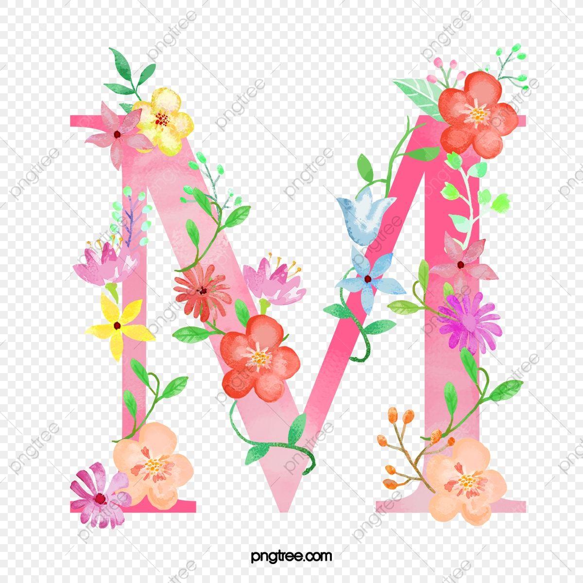 La Fleur De La Lettre M Lettre M Fleur Fichier Png Et Psd Pour Le Telechargement Libre Flower Letters Alphabet Wallpaper M Letter Images