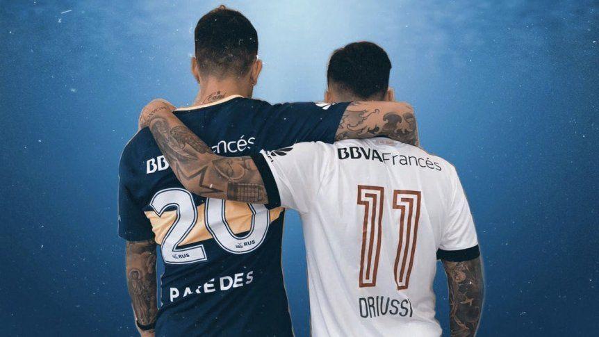 El mensaje de Driussi y Paredes en redes Somos rivales