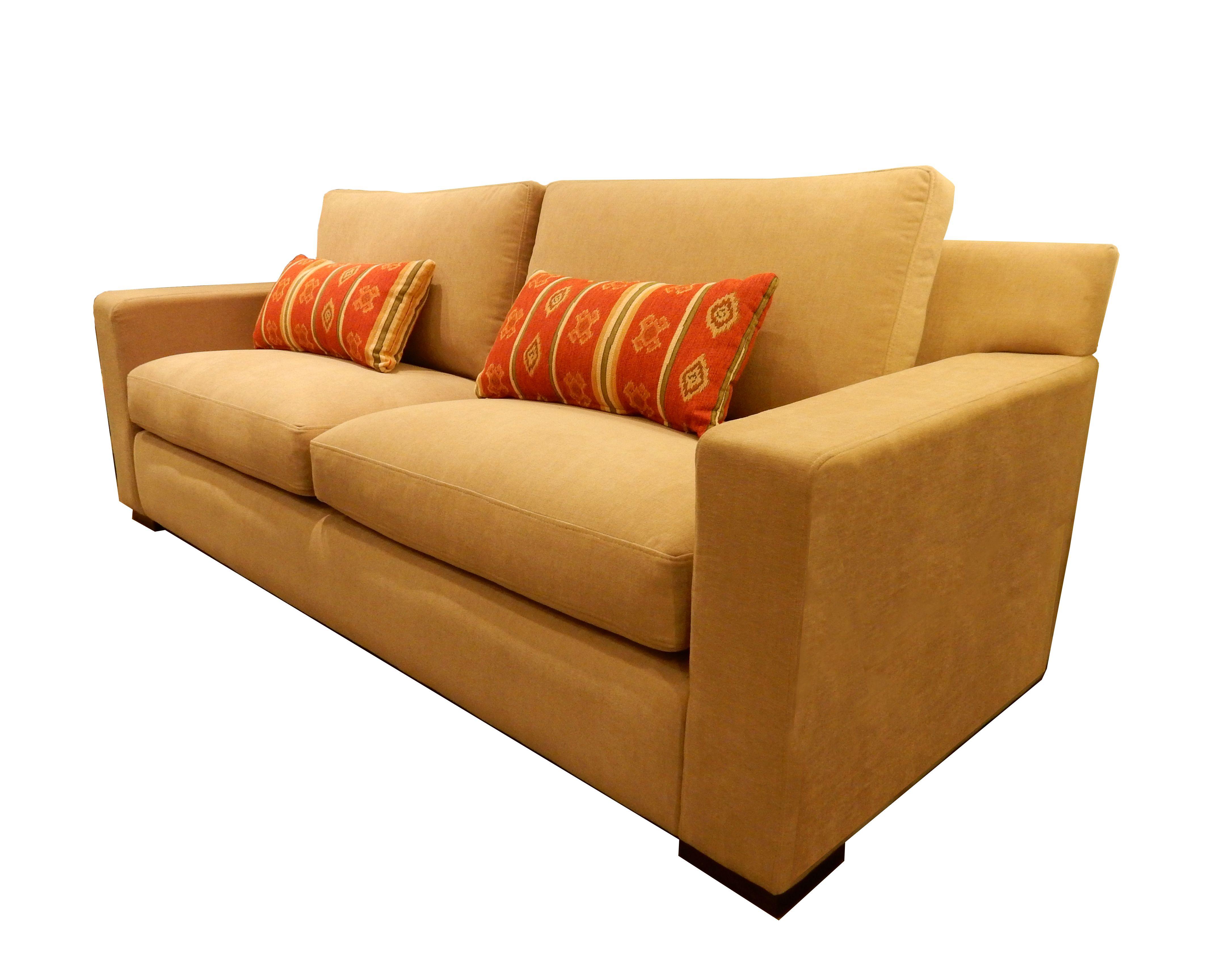 Sof urbano de tres cuerpos tapizado en tela antimanchas - Sofa para tres ...