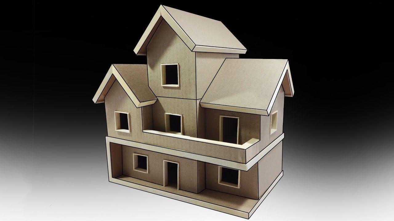 كيف تصنع منزل كبير من الكرتون روعة Cardboard House Cardboard Box Houses Small Wooden House
