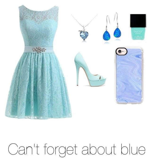 """""""Can't forget about the blue"""" by ifdancer ❤ liked on Polyvore featuring Casadei, Glitzy Rocks, Casetify and Butter London"""
