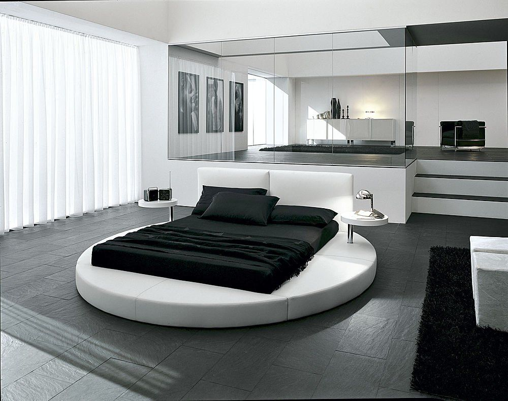 innocence in a white round bed bedroom interior designbedroom interiorsmodern - Modern Interior Design Bedroom