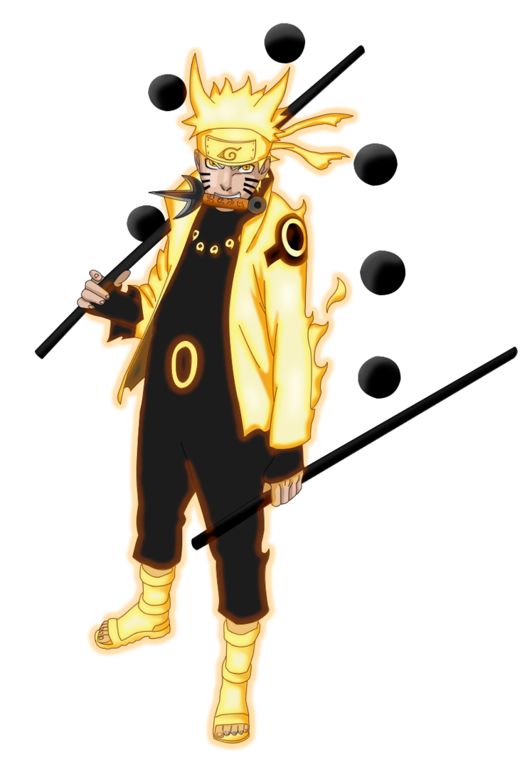 Uzumaki Naruto Six Paths Sage Mode By Redcz With Images