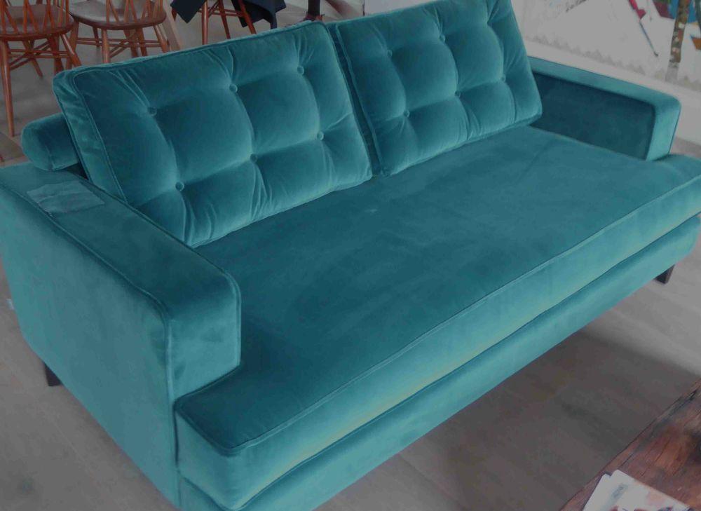 BNWT 3 Seater Mistral Heals Sofa In Designers Guild Velvet