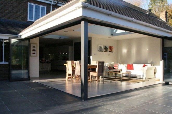 Sfk20 20 Bifold Doors For Kitchen Extension Case Study Uberdachte Terrassen Haus Bauen Haus
