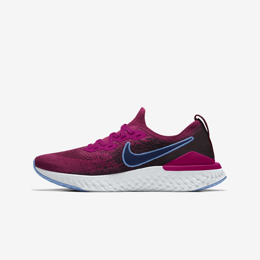 san francisco d838d d1463 Nike Epic React Flyknit 2 By You Custom Women s Running Shoe Size 10.5  (Multi-Color)