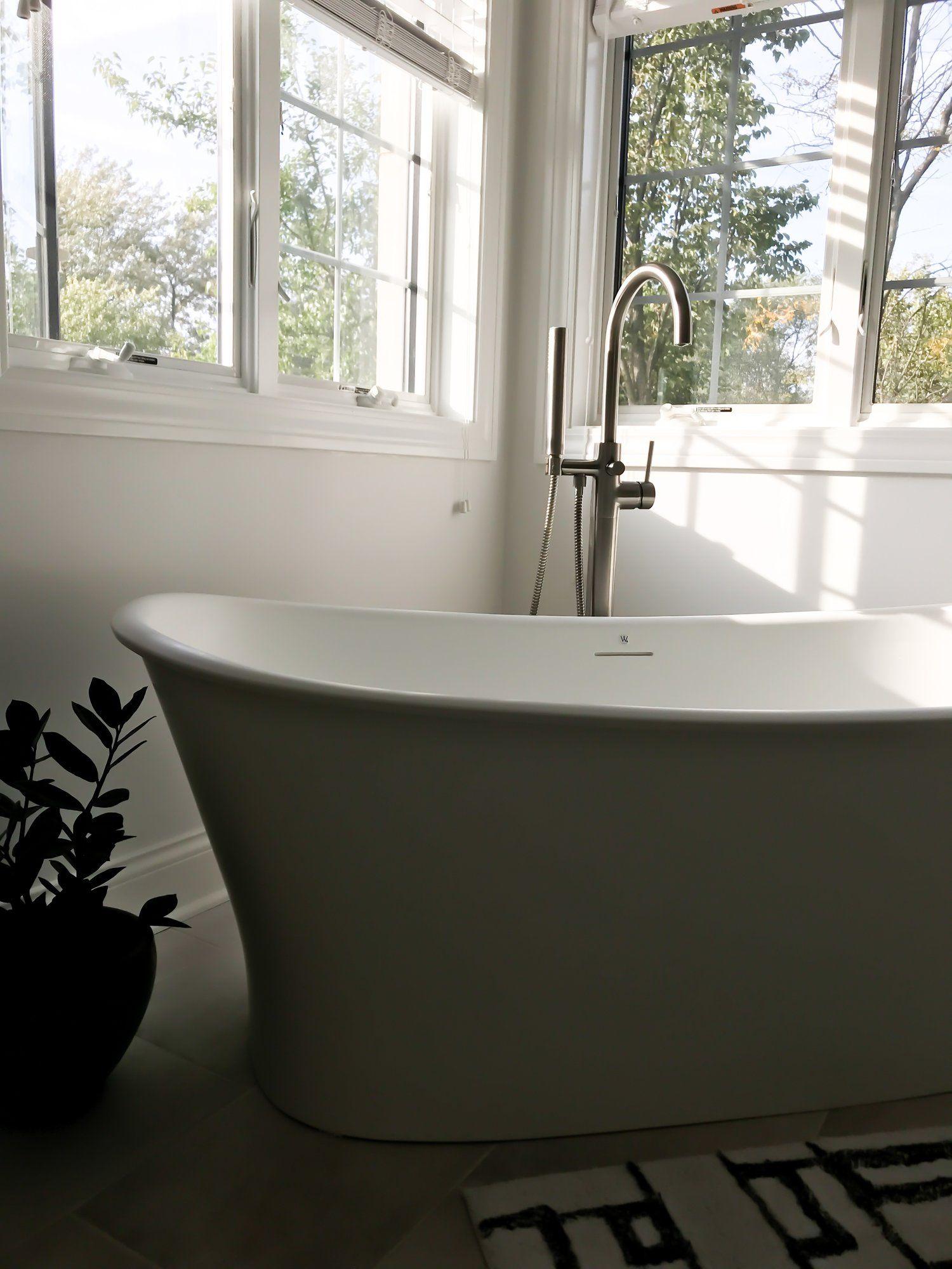 Modern Master Bathroom Ideas First Thyme Mom Modern Master Bathroom Contemporary Bathtubs Master Bathroom Design