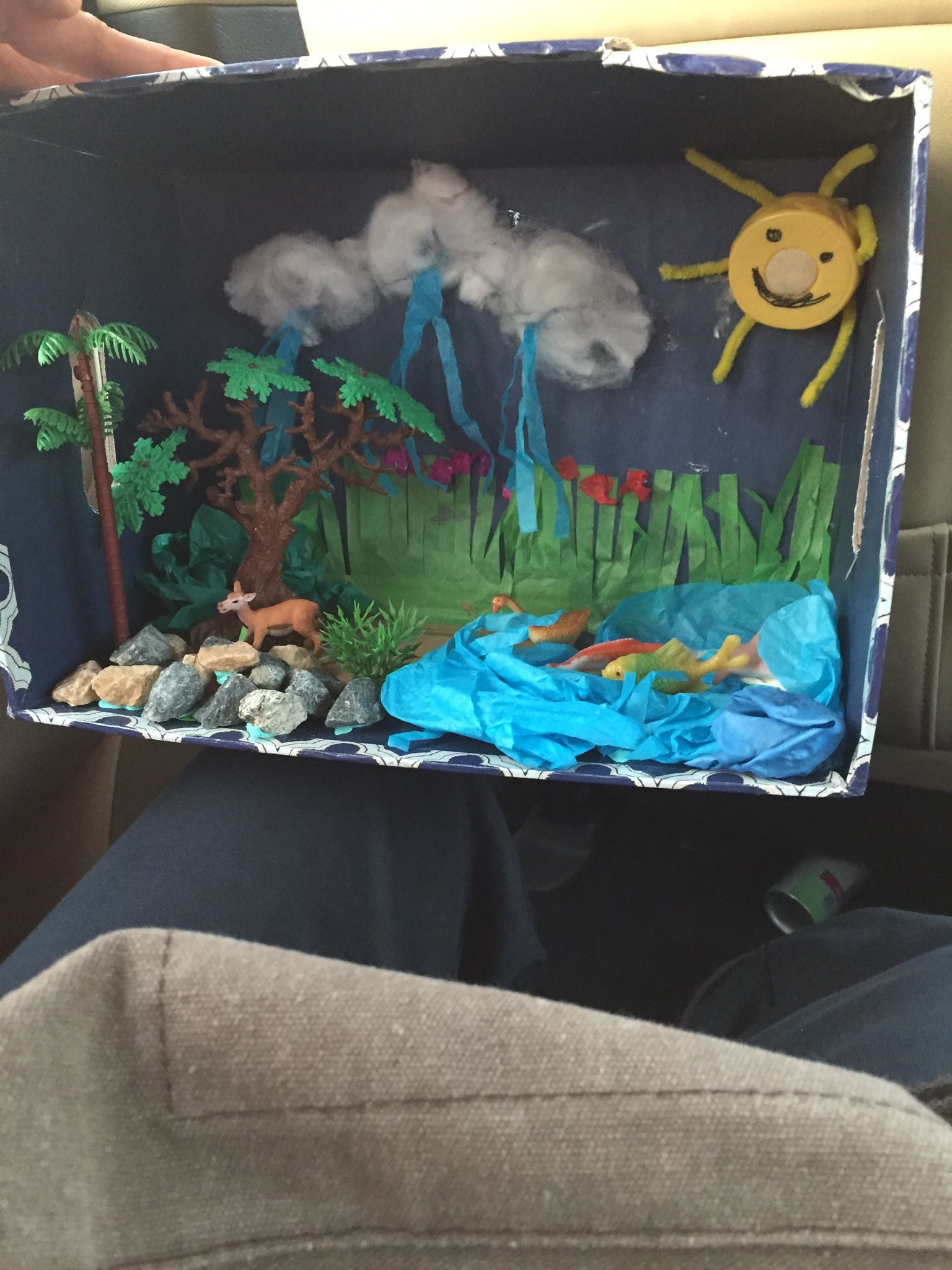 Water cycle Diorama | Dioramas (school projects) | Water cycle