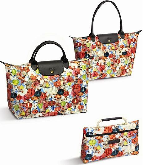 Bags by Mary Katrantzou and Longchamp