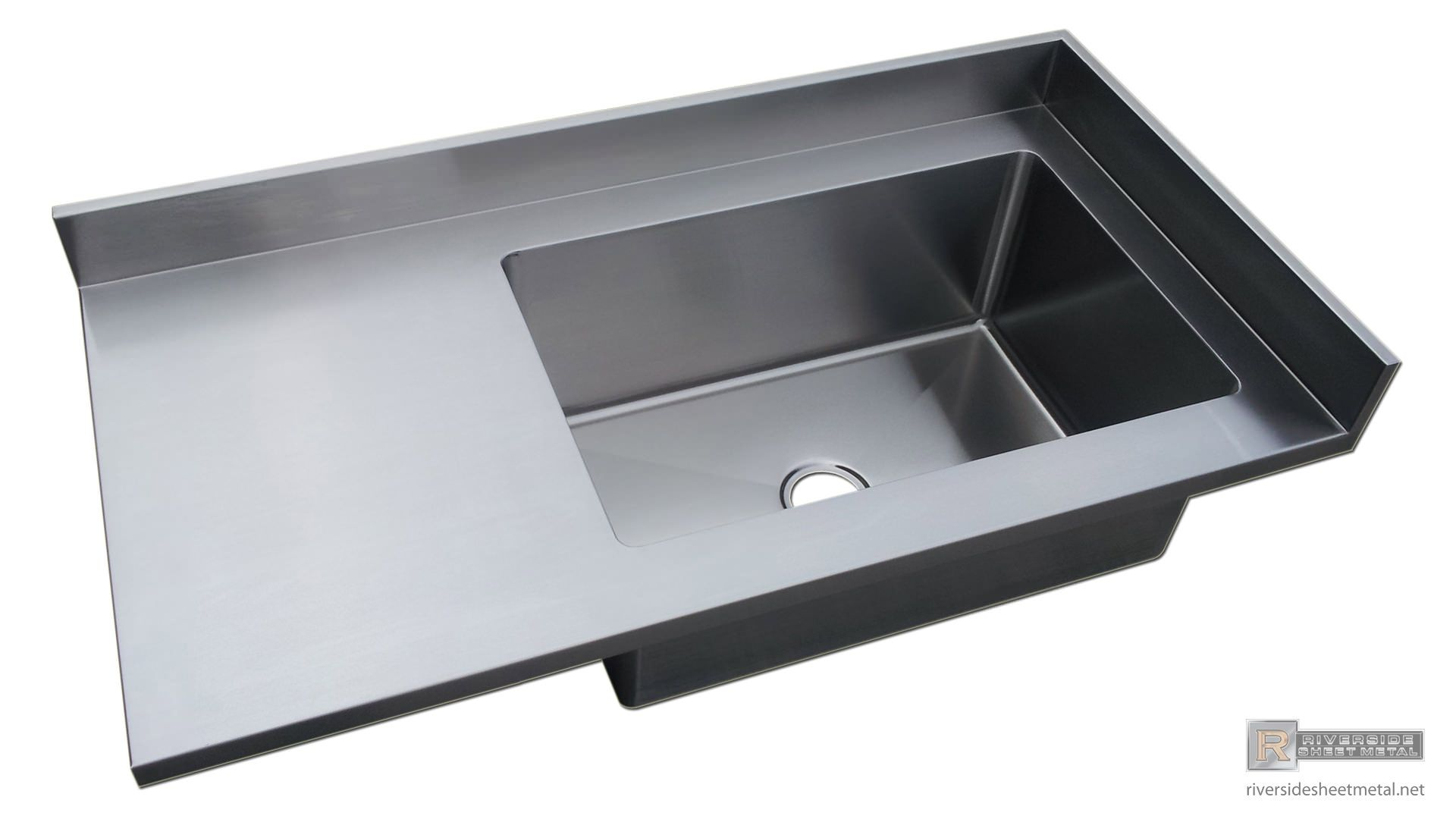 Superb Stainless Steel Counter With Sink | Stainless Steel Number 4 Finish Counter  Top With Integrated Sink And ... | Kitchen | Pinterest | Counter Tops,  Counter ...