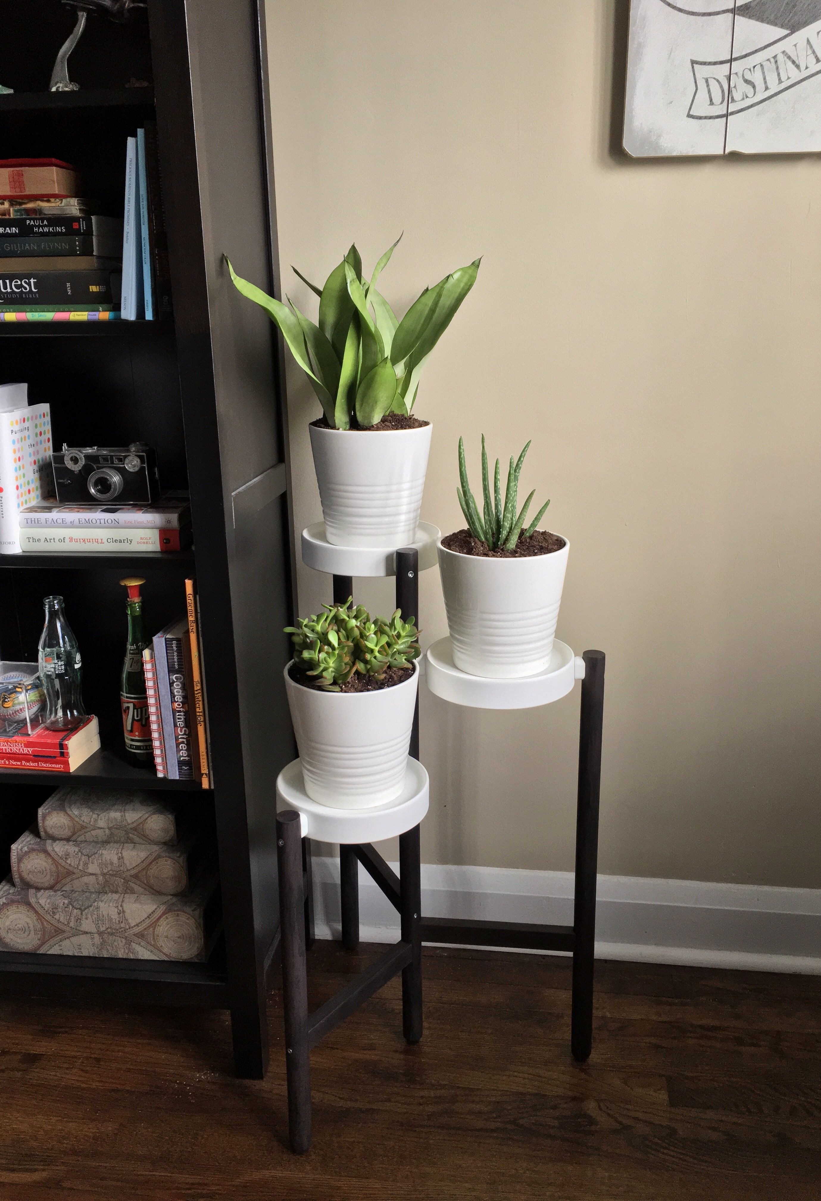 Ikea Satsumas Plant Stand Hack Painted The Drab Bamboo Legs