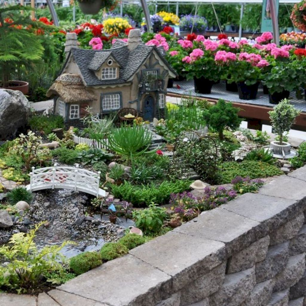 Lovely 20 Cottage Style Landscaping Ideas To Enhance Your: The Top 50 Miniature Fairy Garden DIy Ideas