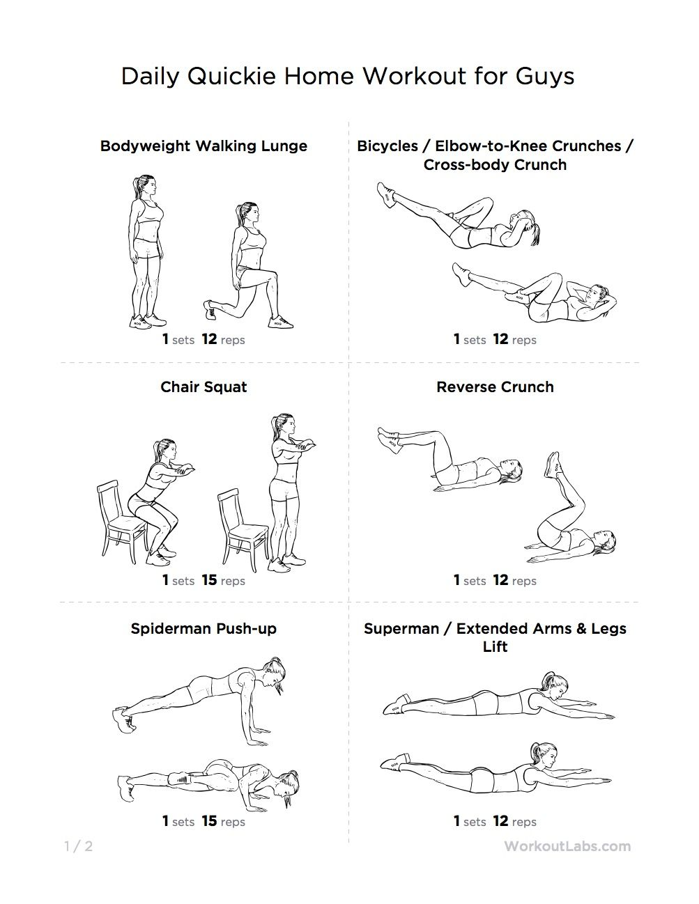 Home Workout Plan For Men workout for men and women | fitness | pinterest | workout, guy