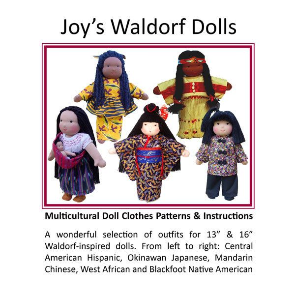 """Multicultural Doll Clothes Patterns for 13"""" & 16"""" Dolls"""