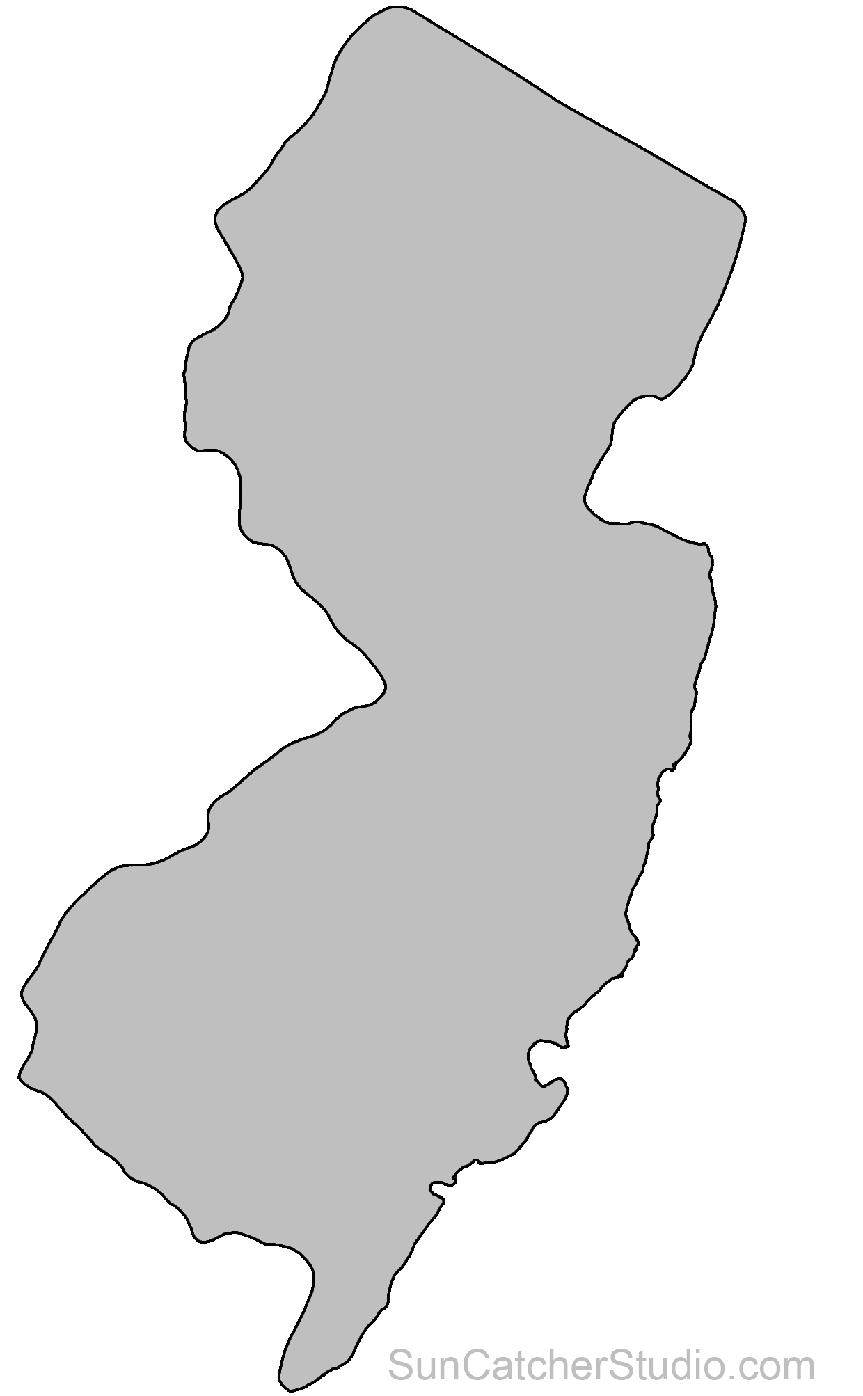 New Jersey Map Outline Pin on gotta master this