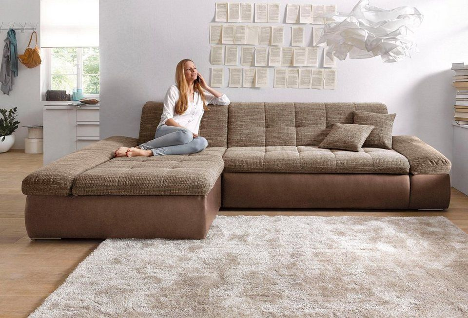 Domo Collection Ecksofa Wahlweise Mit Bettfunktion Und
