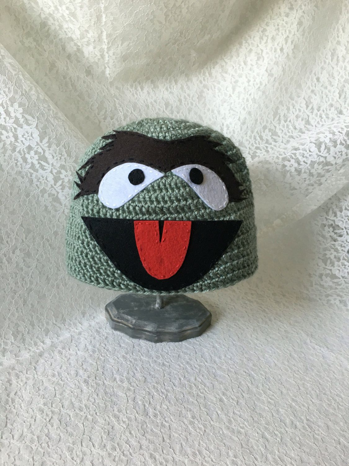 b6c83e4211e Oscar the Grouch Crochet Hat