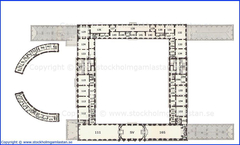 First Floor Plan Kungliga Slottet Royal Palace Stockholm Sweden Diseno De Casa Planos Planos Disenos De Casas