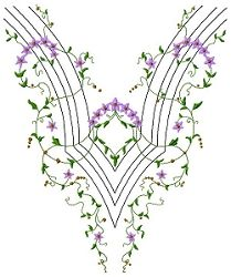Neck Design 1 - 10x12 | Borders | Machine Embroidery Designs | SWAKembroidery.com