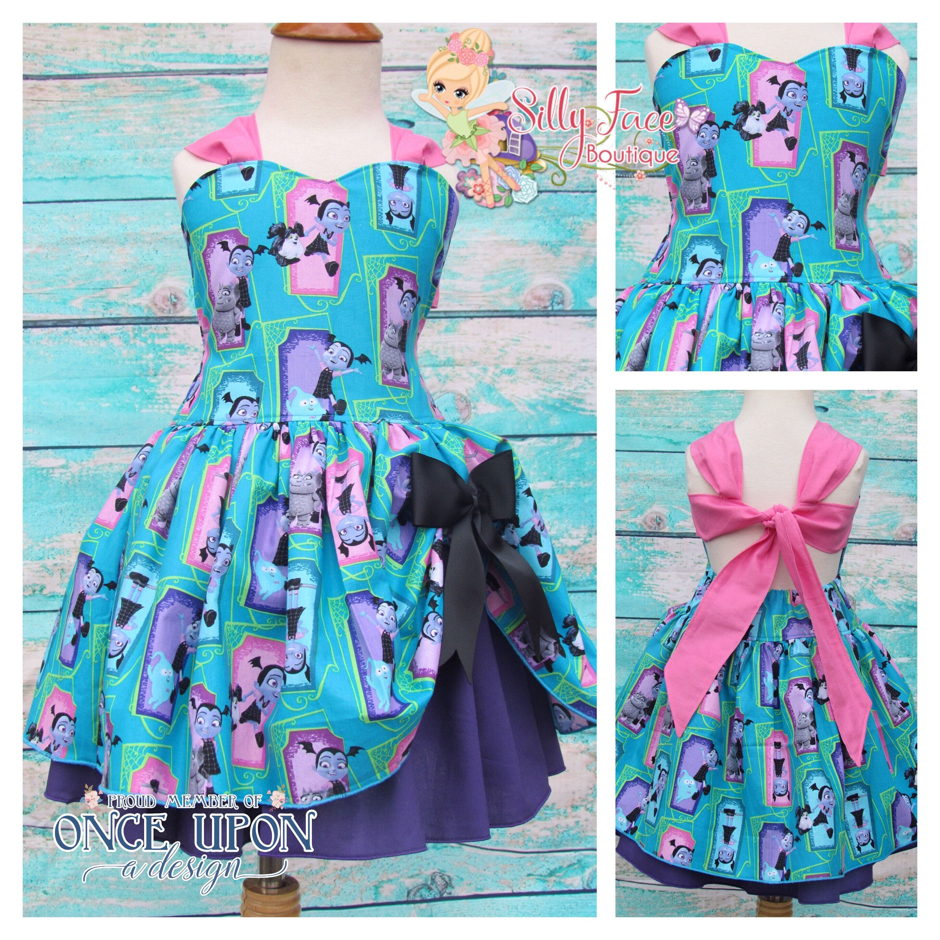 Girls Ready To Ship Vampirina Ghoul Birthday Party Pageant Dress ...