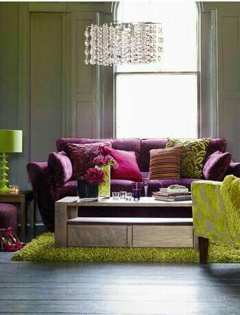 Mein Haus, Farben, Wohnen, Rosa Wohnzimmer, Wohnzimmerfarben, Wohnzimmer  Ideen, Lila Zimmer, Wohnräume, Lila Couch