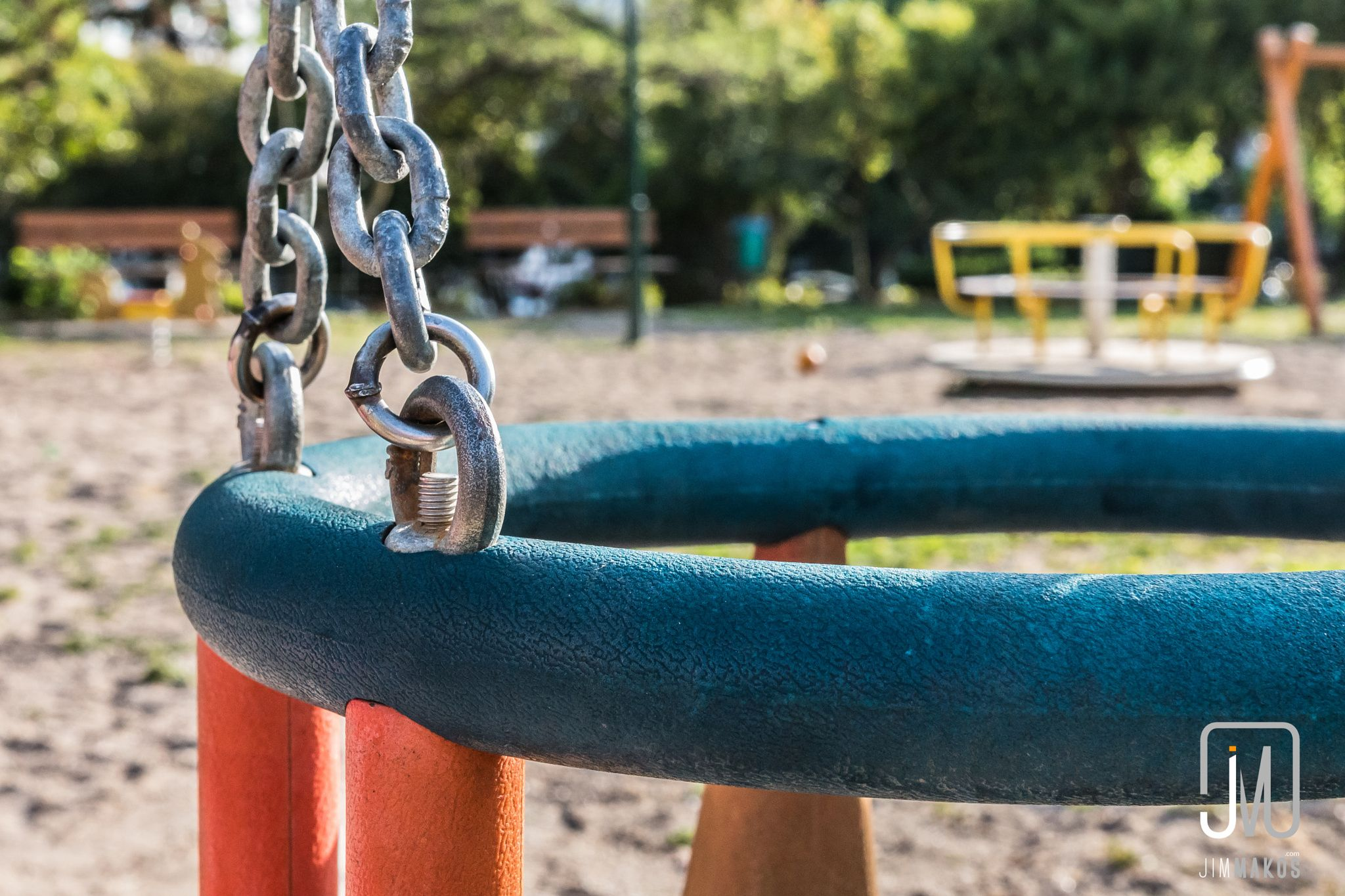 Swing in Playground by Jim Makos on 500px. Closeup of a swing for small children in an outdoor playground.