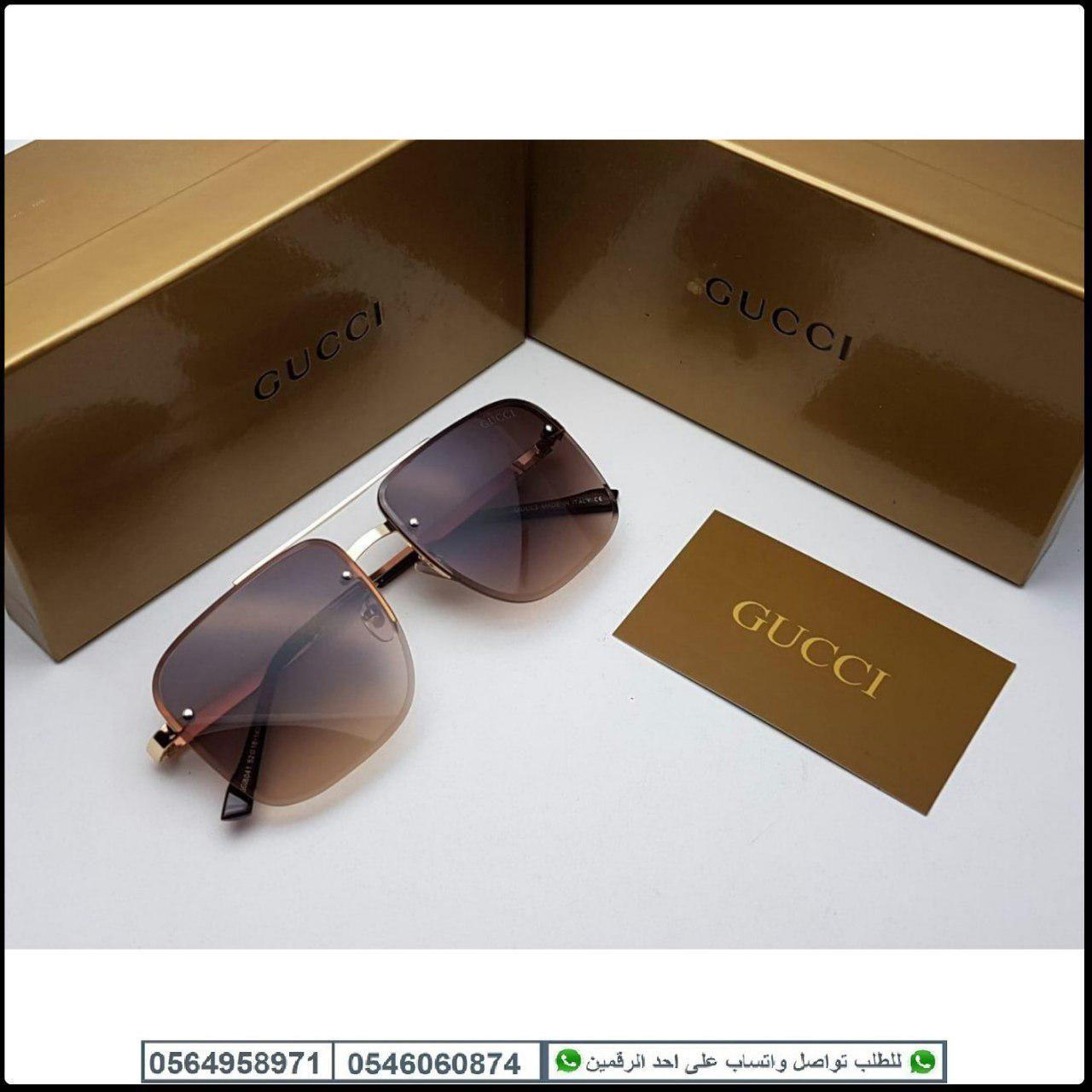 نظارات قوتشي رجالي Gucci مع جميع الملحقات و بنفس اسم الماركه هدايا هنوف Gucci Square Sunglass Sunglasses