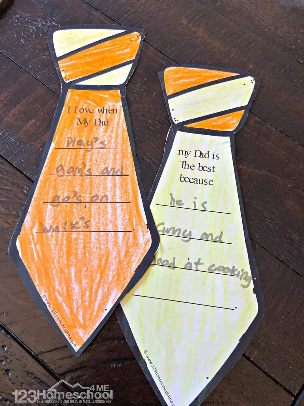 Free printable fathers day craft fathers day crafts