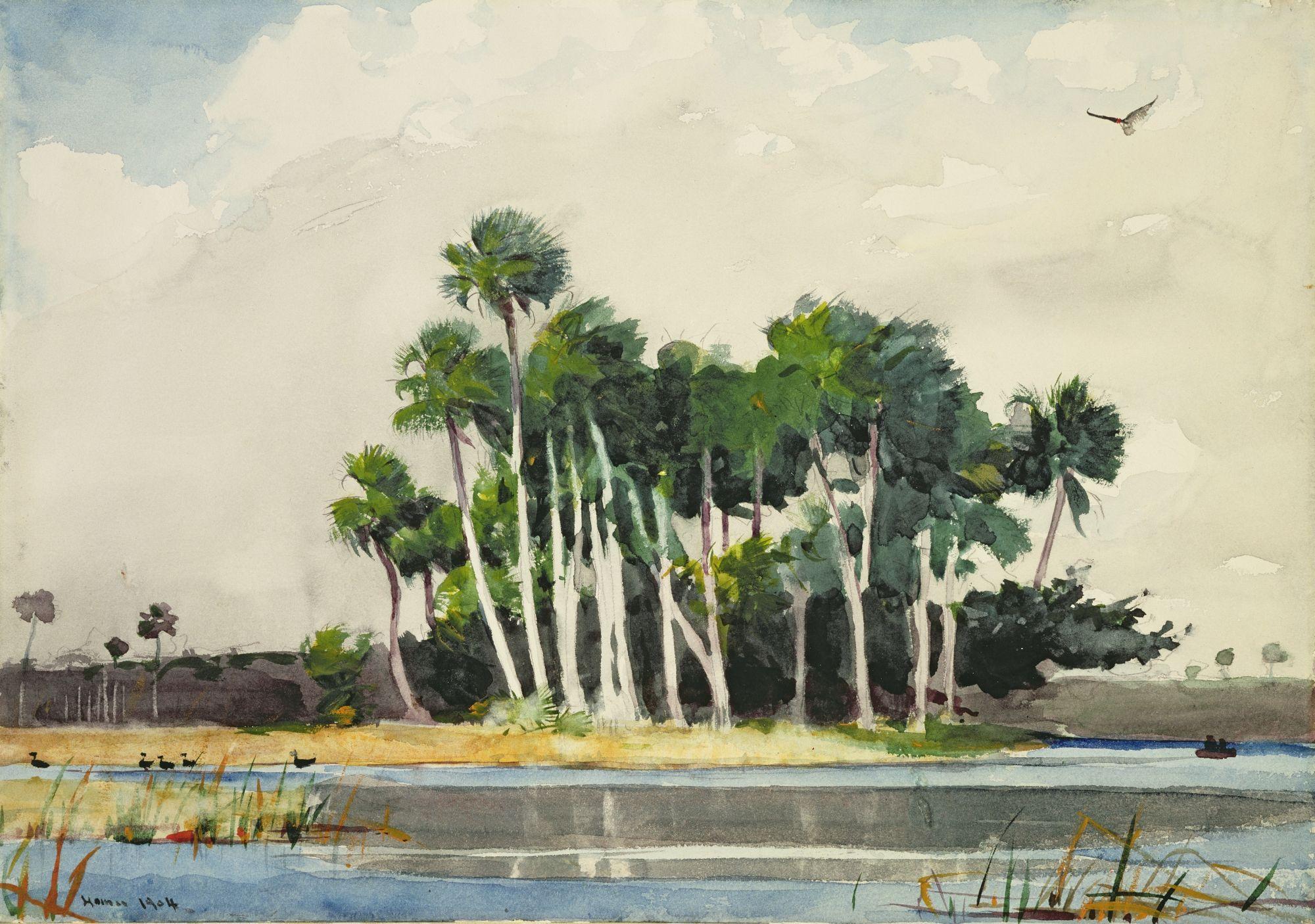 Winslow Homer Art Paysage Peinture Peinture Aquarelle