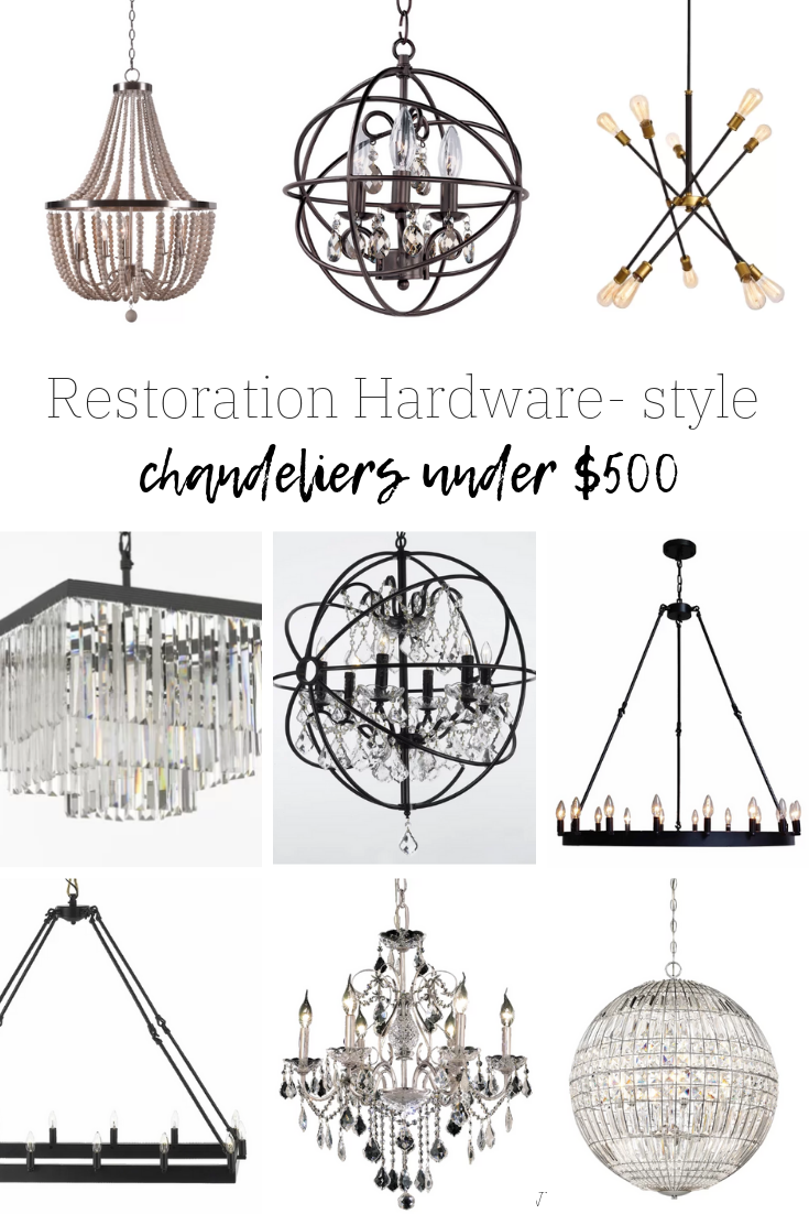 Restoration Hardware Style Chandeliers
