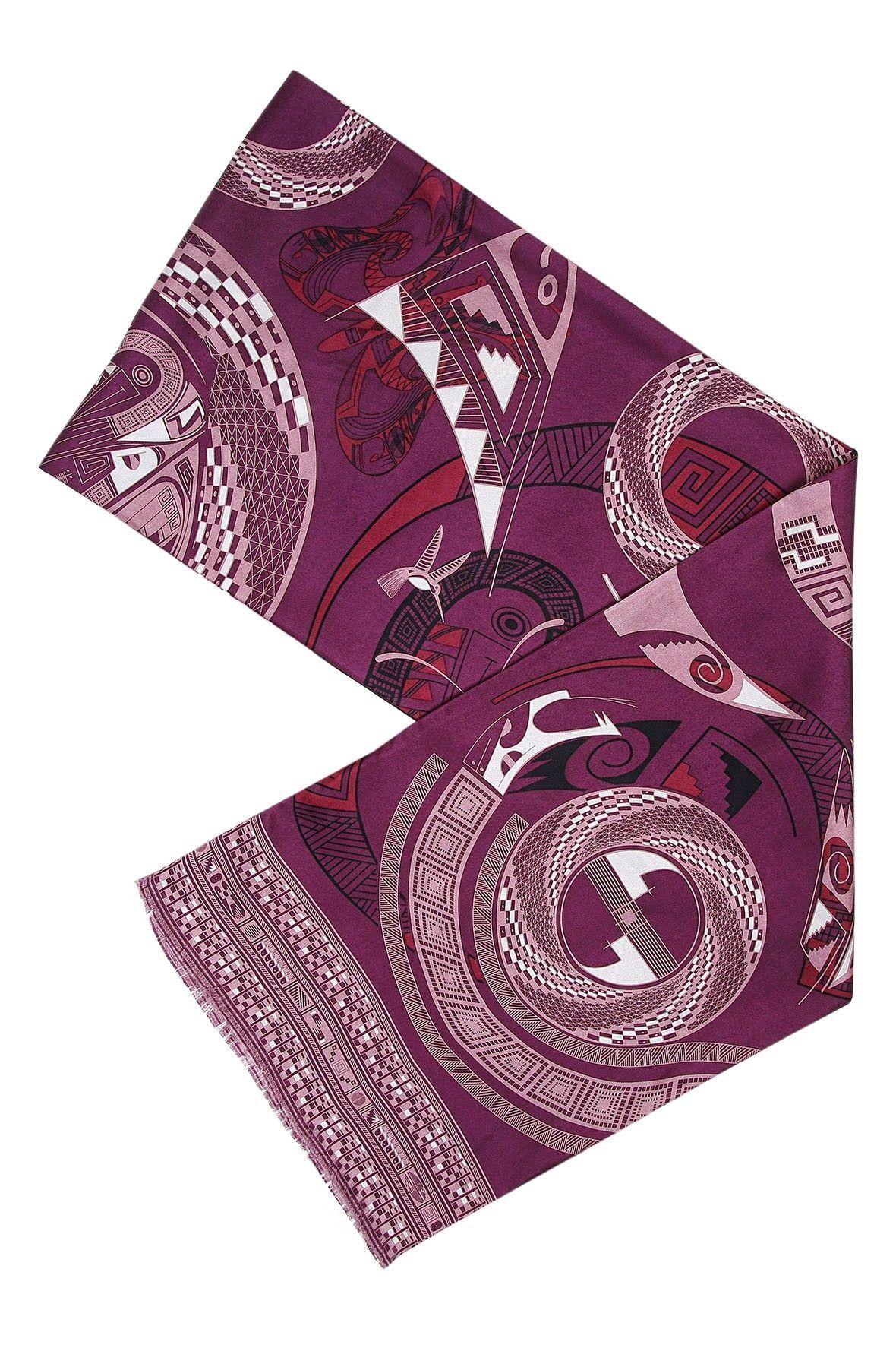 """CHIHUAHUA VASSEL PLUM LONG SCARF 70"""" x 10.5"""""""