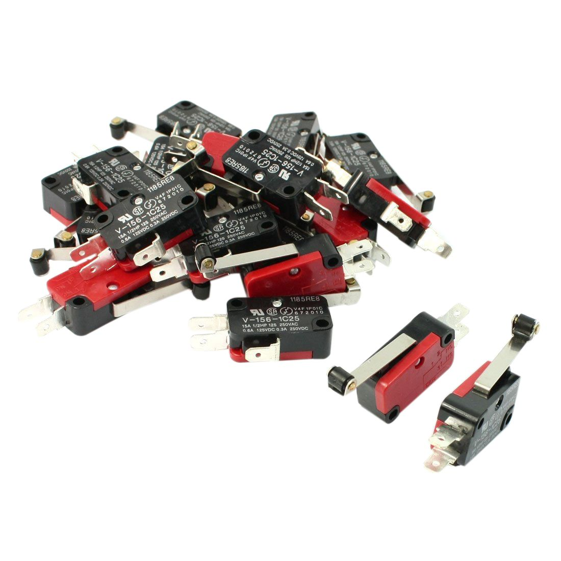 Promotion 20 Pcs Mini Micro Limit Switch Long Roller Lever Arm Spdt With Snap Action