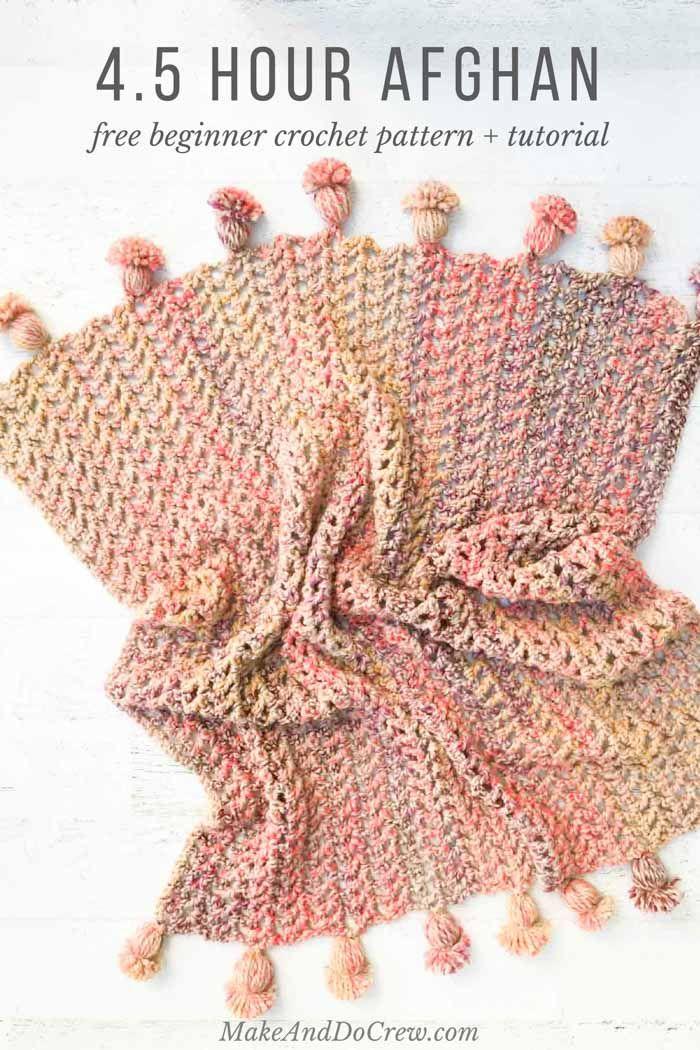Presto 45 Hour Afghan Free Fast Crochet Blanket Pattern Fast