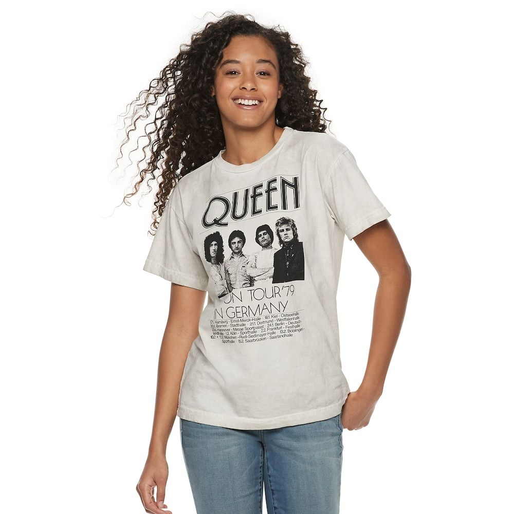 d86c2f26ae904 Juniors' Queen On Tour Germany Graphic Tee, Girl's, Size: XS, Grey ...