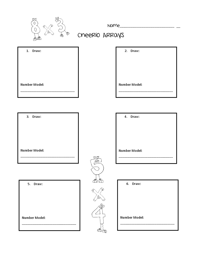 worksheet Multiplication Arrays Worksheets 1000 images about matharrays on pinterest smart boards assessment and common core standards