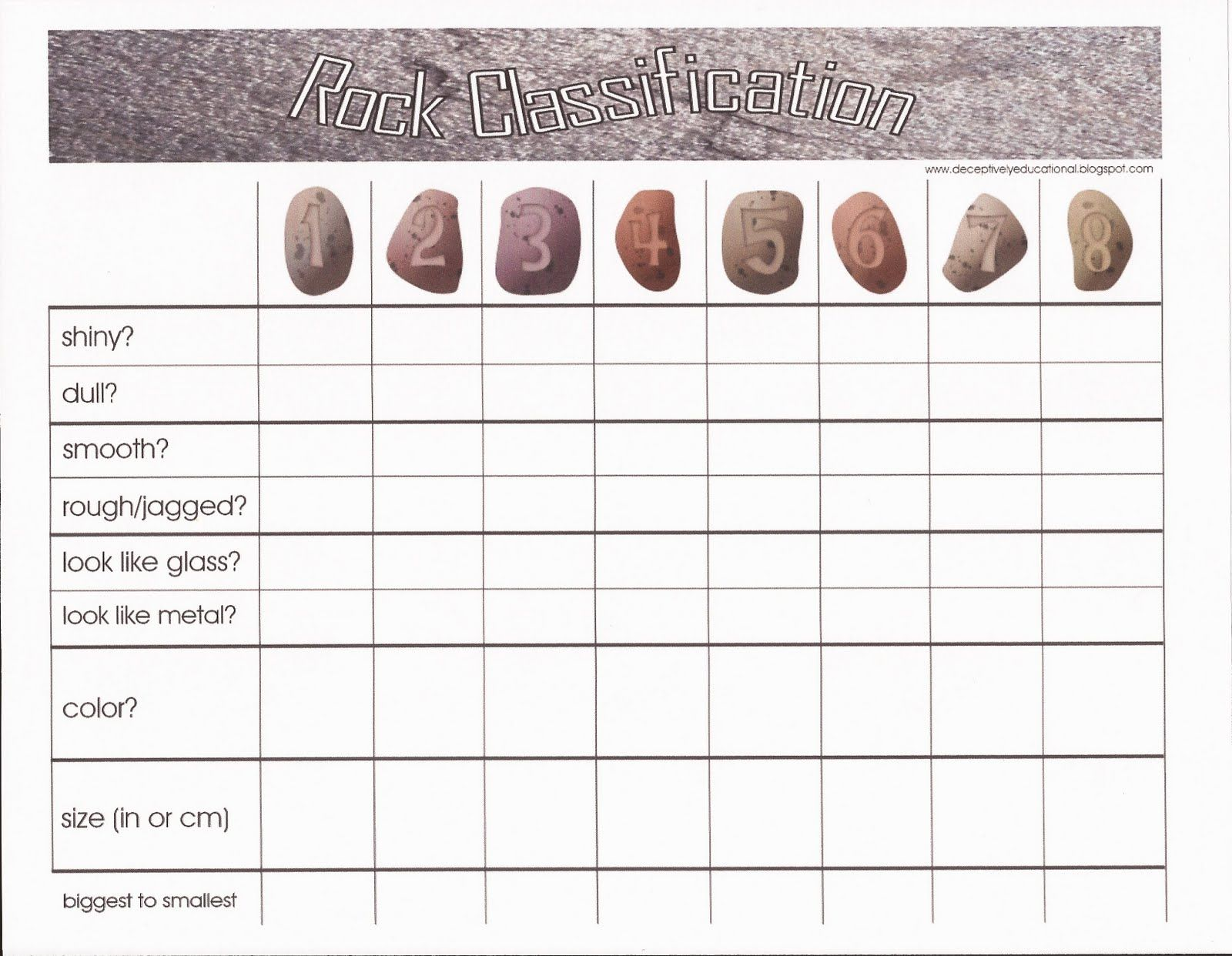 worksheet Kinds Of Rocks Worksheet types of rocks worksheet sc1steducation com relentlessly fun deceptively educational backyard rock free printable classification from