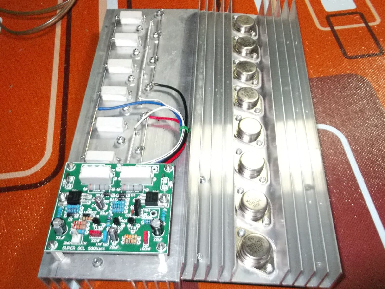 Power Amplifier Super Ocl 500w Circuit Schmy Pinterest Universal Supply With Ic78xx And Mj2955 Transistor Final
