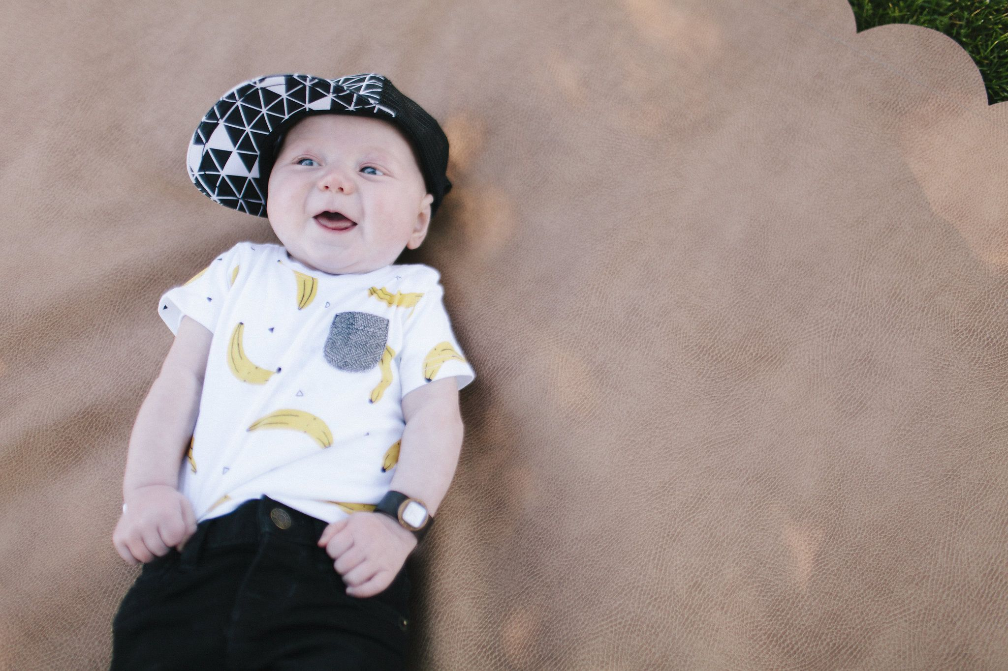 Finally! The baby boy gear is out! Flat brim hats and baby watches ... 0ab8c9c805f