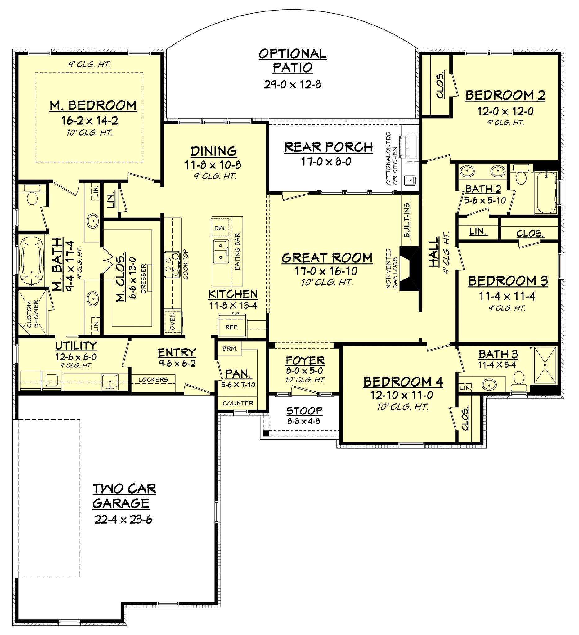 4 master bedroom house plans  Spruce House Plan  Carol BFF home  Pinterest  Full bath Vanities