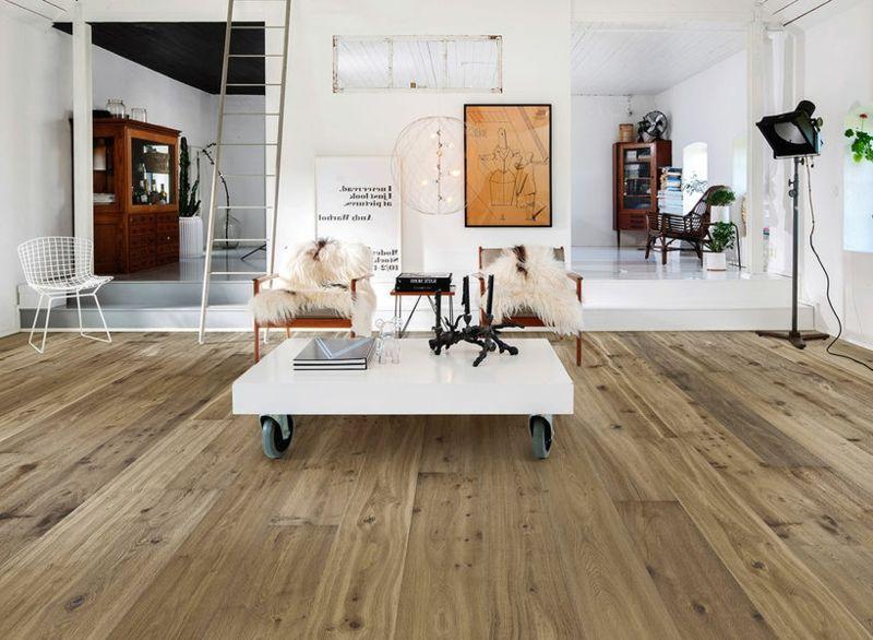 Holzfliesen Wohnzimmer ~ Industrieparkett aus eiche als bodenbelag u2013 25 stilvolle ideen für