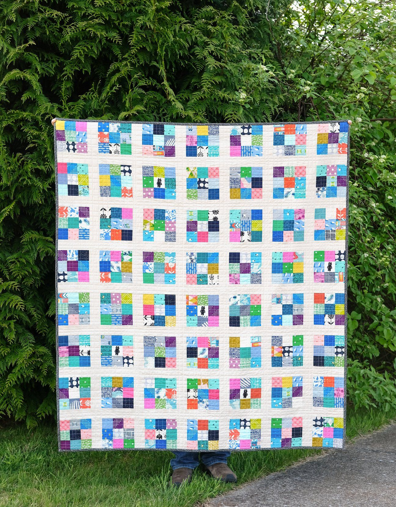 Modern Postage Stamp Quilt Pattern In With